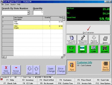 Cash Register Express CRE2004 POS Software