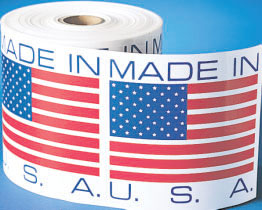 Country of Origin Made In U.S.A. Label