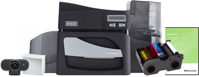 HID DTC 4500 ID Card Printer Systems ID Card Printer System
