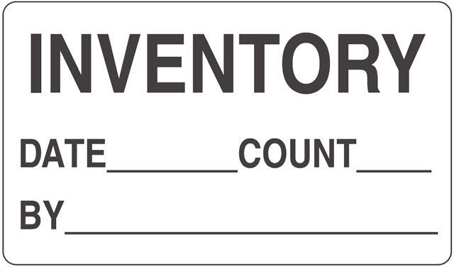 Inventory Inventory Label