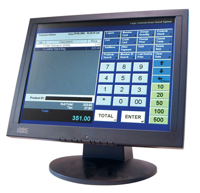Logic Controls LE1000 Touch screen Monitor