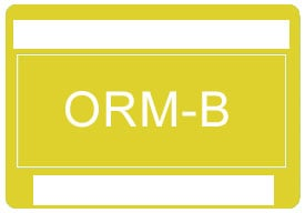 Other Regulated Material ORM-B Label