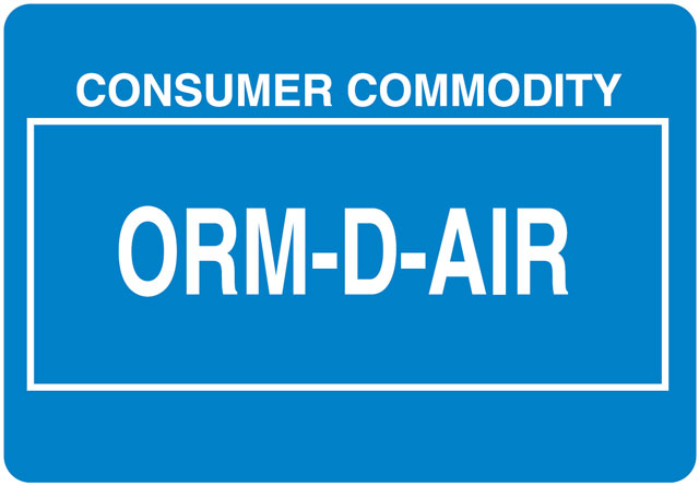 Other Regulated Material ORMD-AIR Label