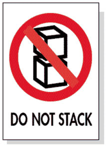 Packing Do Not Stack Label