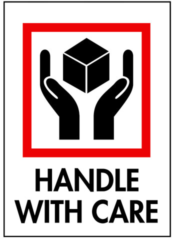 Packing Handle With Care Label