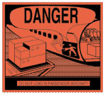 Packing Danger - Do Not Load In Passenger Aircraft Label