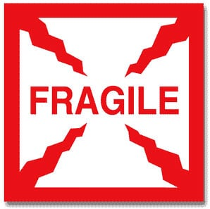 Packing Fragile Label