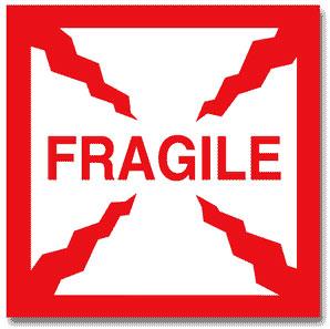 Packing Fragile Label