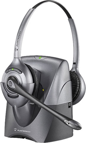 Plantronics CS361N Binaural SupraPlus Wireless Professional Headset System Noise-Canceling with Lifter