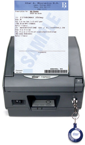 Star TSP 800 Rx Printer