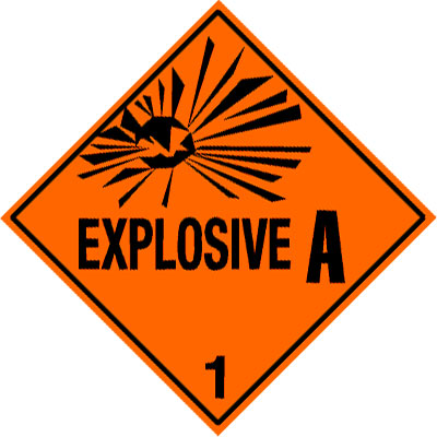 Warning Explosive 1.1A Label