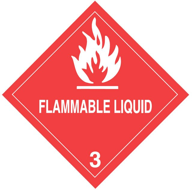 Warning Flammable Liquid Label