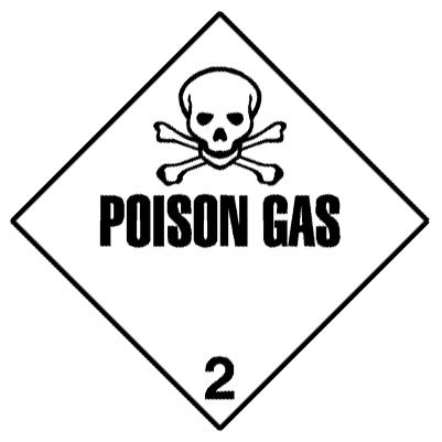 Warning Poison Gas Label