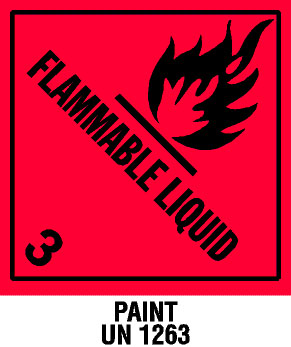 Warning Flammable Liquid with Note Label