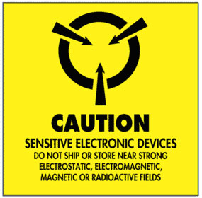 Warning Caution - Sensitive Electronic Devices Label