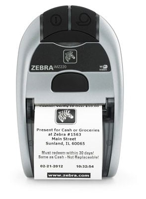 Zebra iMZ220 Portable Printer