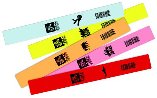 Zebra Z-Band Fun Wristband