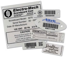 Photo of BCI Metal Bar Code Nameplates
