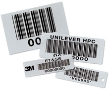 Photo of BCI Teflon Coated Metal Bar Code Nameplates