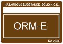Photo of Other Regulated Material ORM-E