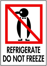 Photo of Packing Refrigerate Do Not Freeze