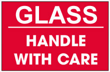 Photo of Packing Glass Handle With Care Red