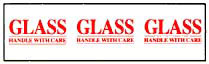 Photo of Printed Tape Glass Handle With Care