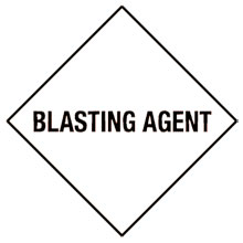 Photo of Warning Blasting Agent