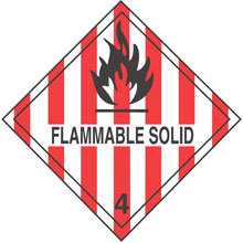 Photo of Warning Flammable Solid