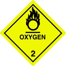 Photo of Warning Oxygen
