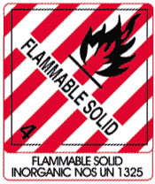 Photo of Warning Flammable Solid with Note
