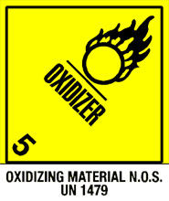 Photo of Warning Oxidizer - Oxidizing Material