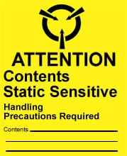 Photo of Warning Attention - Contents Static Sensitive
