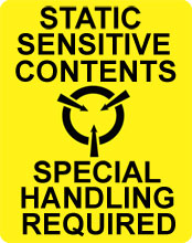 Photo of Warning Static Sensitive